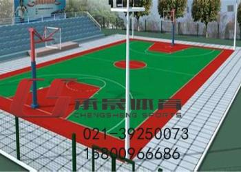 无锡塑胶篮球场图片