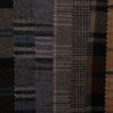 供应法兰绒格仔布色织布粗纺格子