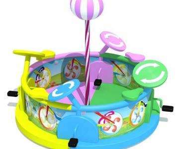 供应蓝图电动淘气堡电动自行车 温州电动自行车价格 儿童电动玩具图片