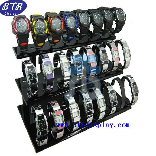 供应亚克力手表展示架 压克力钟表展示架 有机玻璃手表展示道具