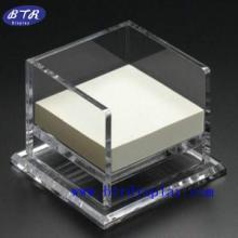 供应亚克力便签盒 订做压克力透明便签纸盒 有机玻璃相框便签条盒
