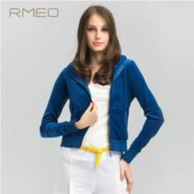 供应最优惠的新款纯色拼接短外套报价   运动休闲棉外套女装上衣
