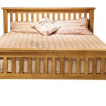 供应北欧之家纯橡木实木大床