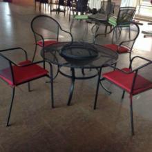 凉亭遮阳伞公园椅铸铝桌椅实木桌椅园椅唐山铸铝桌椅合肥户外家具批发