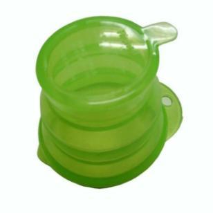 创意折叠水杯悬挂食品级伸缩杯图片