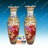 青花瓷陶瓷大花瓶价格  青花瓷陶瓷大花瓶价格 粉彩仿古落低花瓶批发