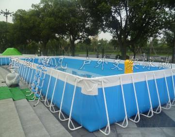 供应厂家直销充气支架水池大型支架泳池终身保修