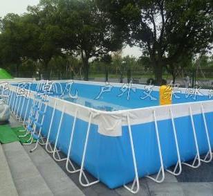 可移动大型支架泳池儿童水上游乐园图片