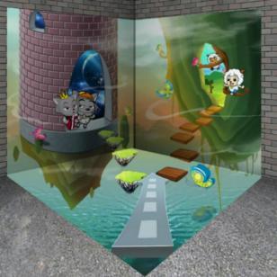海底世界立体画游乐园趣味3d画图片图片