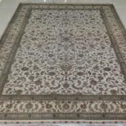 欧式浅色系手工打结真丝地毯图片