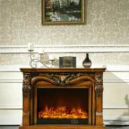 FS-T266红木色壁炉象牙白壁炉图片