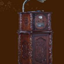 供应仿古大喇叭留声机80C全实木低音炮;古典留声机;低音炮CD机收藏
