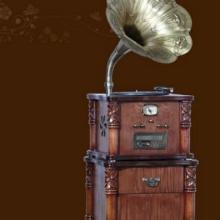供应12B实木立体复古古典CD留声机;CD播放机;高档收音机;唱片