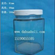 200ml六角蜂蜜玻璃瓶图片