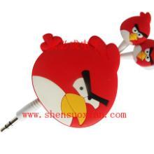 供应愤怒的小鸟伸缩线耳机