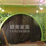 供应PVC镂空板雕花板拱形雕花门隔断