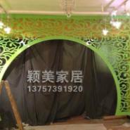 PVC镂空板雕花板拱形雕花门隔断图片