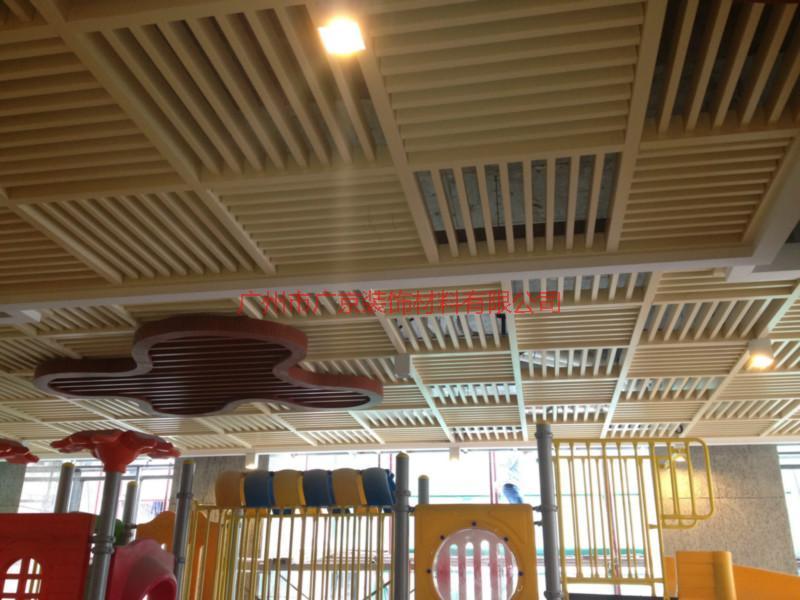 幼儿园吊顶铝格栅, 防火铝合金格栅生产厂家/供应商,仿木纹铝格栅