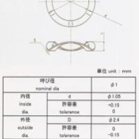 供应精密1mm直径不锈钢波形垫圈