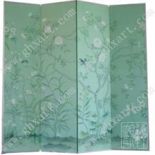 供应丝绸手绘屏风