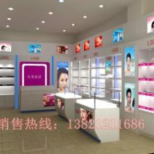 供应化妆品展示柜 化妆品柜台 洗化货架 天津木质货架 烤漆展示架 图片