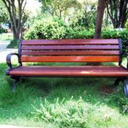 衡阳防腐木公园椅图片