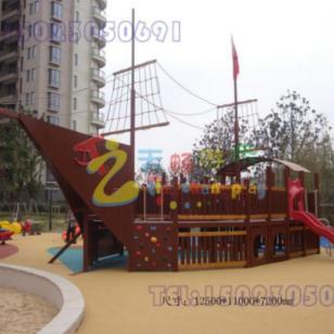 大型儿童游乐木质海盗船图片