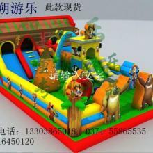 供应赚钱的游乐玩具充气跳跳床图片