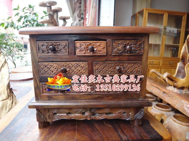 供应紫檀首饰盒 实木梳妆盒 珠宝饰品收纳盒 红木古典化妆盒