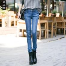 供应冬季新品欧美弹力显瘦紧身弹力铅笔裤小脚牛仔裤女批发