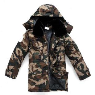 冬季保暖迷彩大衣图片