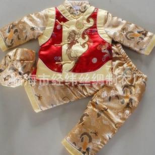 男童唐装棉衣童套装新年礼服图片
