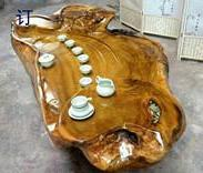金丝楠根雕茶几丨实木树根茶台图片