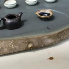 供应绿端砚石茶盘天然手工雕刻广东肇庆老坑绿端砚茶盘砚石茶盘批发