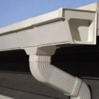 供应唐山蒂美pvc5.2英寸成品天沟丨屋檐集水槽价格