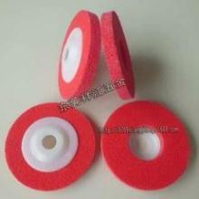 红色不织布研磨轮纤维角磨轮 白刚玉抛光打磨角向尼龙