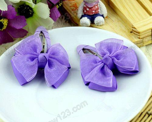 紫色系发夹颜色搭配
