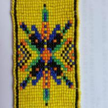 供应用于腰带订珠编织的上海手工钩珠生产厂家手工编织珠批发
