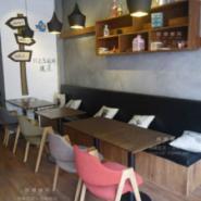 嘉定咖啡实木桌椅甜品酒吧西餐家具图片