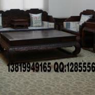 大红酸枝荷花宝座沙发图片