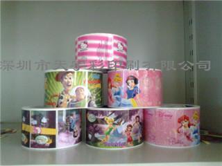 供应深圳龙岗儿童玩具彩色标签印刷