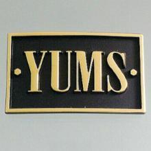 供应锌合金压铸烤漆标牌贴胶标牌定制厂家直销批发