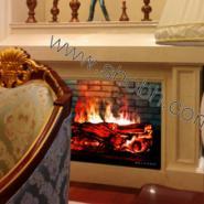 北京别墅客厅3D壁炉图片