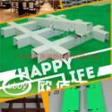 广州铝格栅厂图片