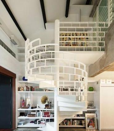 小户型跃层楼梯装修图片
