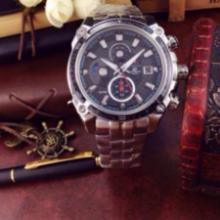 卡西欧EF-504D男士多功能计时腕表,零售,代理
