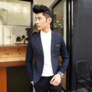 男士个性韩版休闲修身长袖小西装图片