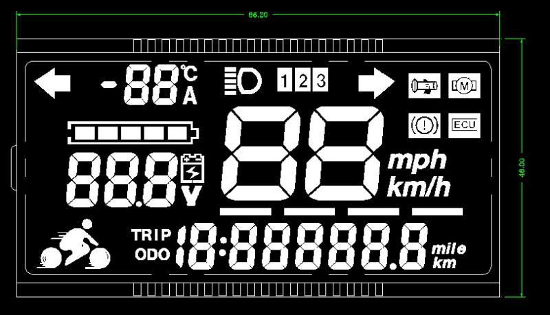 供应欧美电动自行车LCD液晶显示屏,LCD液晶显示屏用途