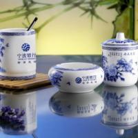 供应景德镇骨质瓷杯子陶瓷盖杯,会议礼品茶杯