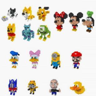小块多粒3D立体拼装自装积木玩具图片